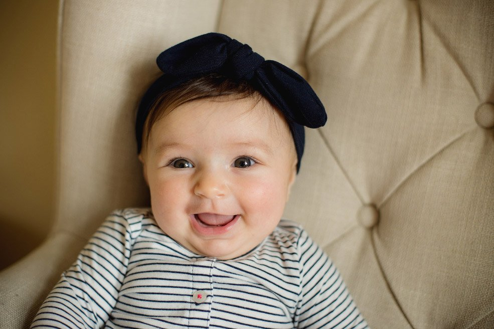 Baby's First Year in Photos - Closeup Portrait