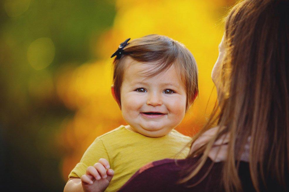 Baby's First Year in Photos - 9 months portrait in autumn