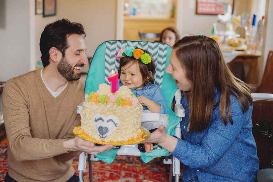 Baby's First Year in Photos - 1st birthday cake smash