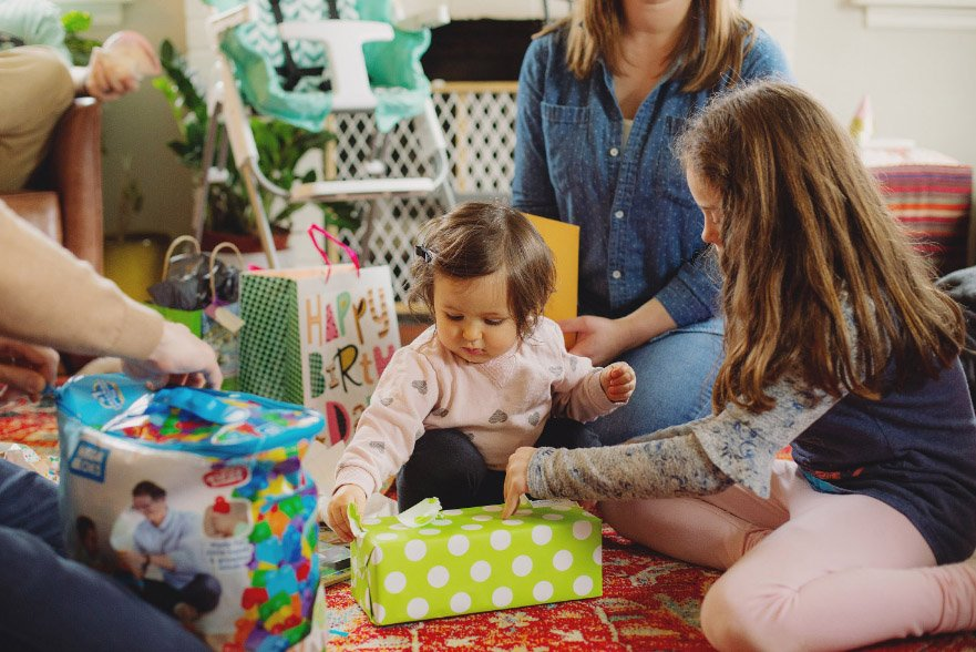Baby's First Year in Photos - 1st birthday, opening presents