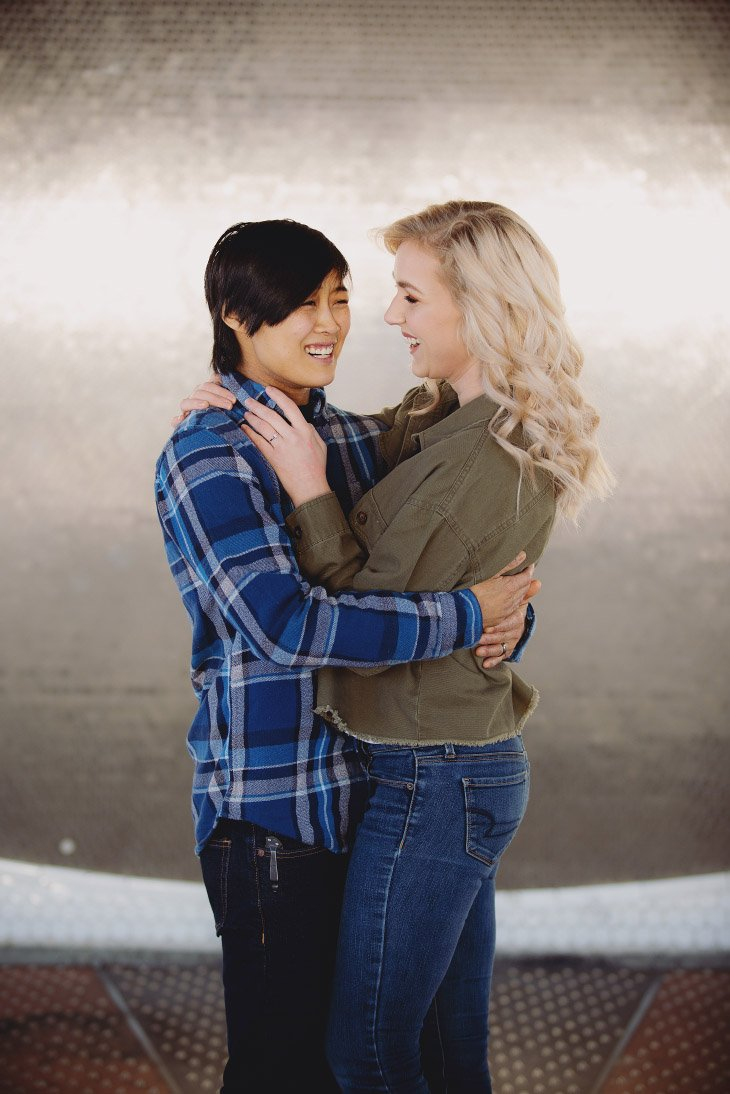 Engagement Photo Session - Hugging