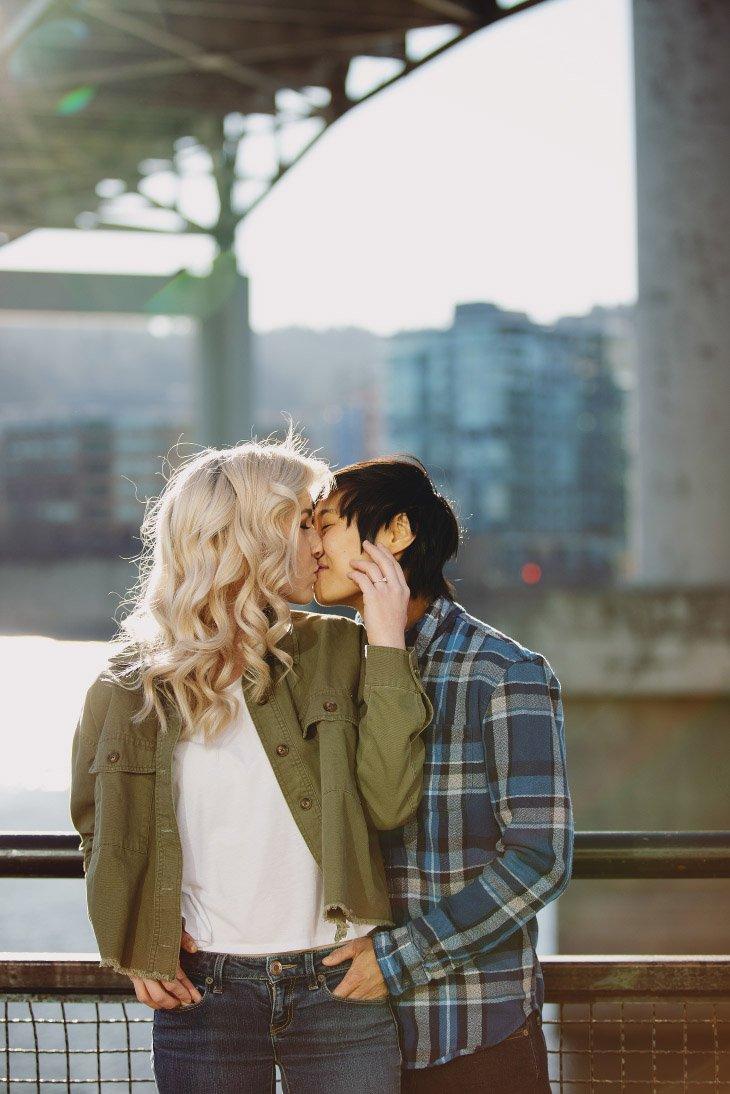 Engagement Photo Session - Kissing