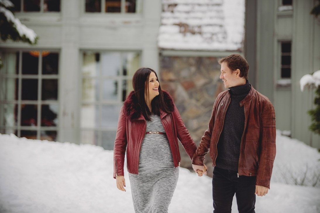 Maternity Photo Session - Couple Holding Hands
