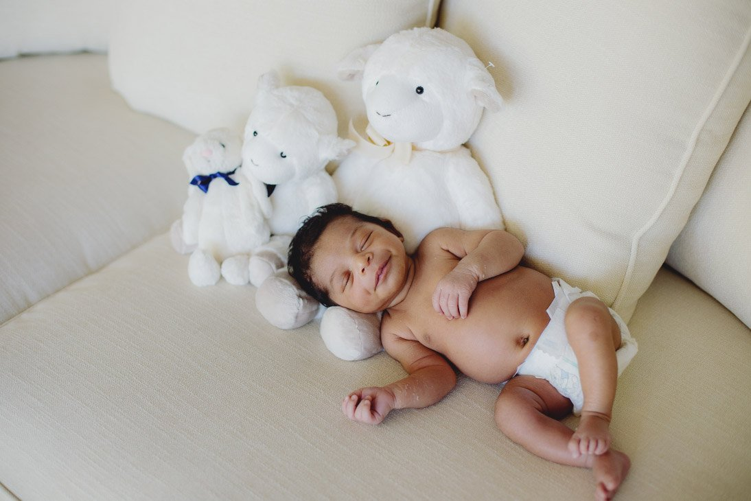 Newborn Photo Session - Baby with Stuffies