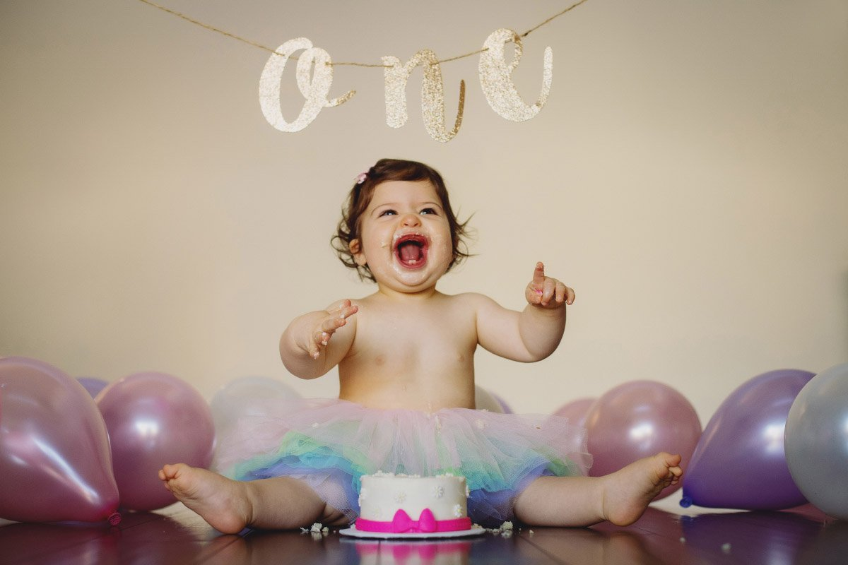 1st Birthday & Cake Smash Photos in Portland, Oregon