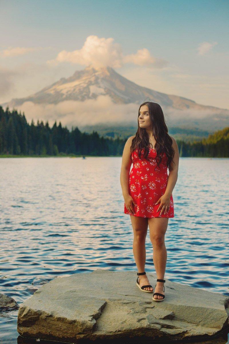 Photo Session at Trillium Lake, Mt Hood, Oregon